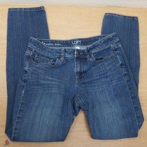 ❤ ANN TAYLOR LOFT modern skinny jeans, size 6